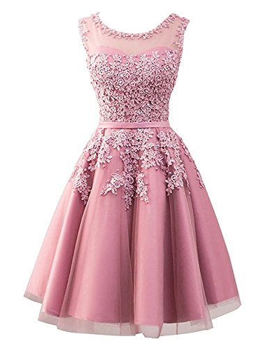 Cdress Tulle Short Junior Homecoming Dresses Lace Appliques Prom Evening Formal Gowns