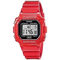 Reloj de banda clásico de resina roja F-108WHC-4ACF de Casio