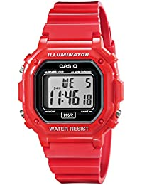 Unisex F-108WHC-4ACF Classic Red Resin Band Watch