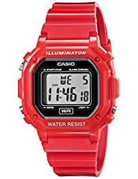 Casio F108WHC-4A sport watch - Reloj deportivo (44.4 x 42.6 x 10.3, Red, CR2016, Resin)