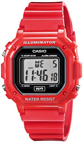 Casio Unisex F-108WHC-4ACF Classic Red Resin Band Watch ()