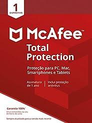 McAfee Total Protection 1 Antivírus – Programa premiado de proteção contra ameaças digitais, programas não des