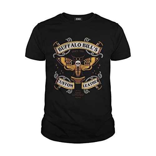 (Men's Buffalo Bill's Custom Leather Since 1991 T-Shirt (L, Black))