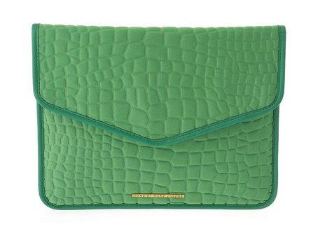 Marc Jacobs Croc (Marc Jacobs Croc Embossed Tablet Envelope Clutch in Parakeet Green)