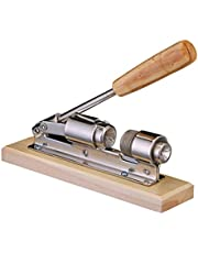 Nut Crackers, Pecan Nut Cracker Tool for Walnuts Hazelnuts Almonds Stainless Steel Material Nutcracker Machine with Wooden Handle Base