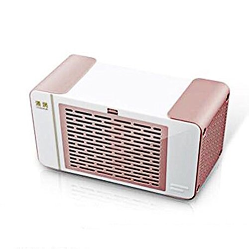 L&Zr Mini Air Conditioner Mini Cooler Refrigerator Bed Student Dormitory USB Charger Portable Small Fan Office Fan,Pink by L&Zr