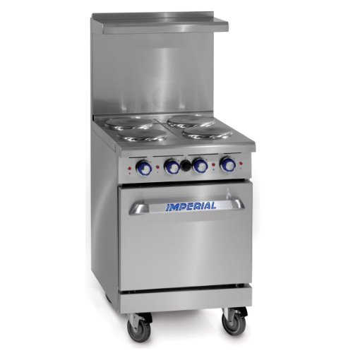 "Imperial Commercial Restaurant Range 24"" With 4 Elements 20"" Standard Oven Electric Model Ir-4-E"