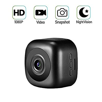 Mini Spy Camera, Mofek Portable Small 1080P HD Hidden Camera Nanny Cam with Night Vision for Home, Car, Office/Outdoor from Mofek