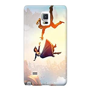 TraciCheung Samsung Galaxy Note 4 Shock Absorbent Hard Phone Covers Unique Design High Resolution Bioshock Infinite Falling Pictures [LPz14590dOgk]
