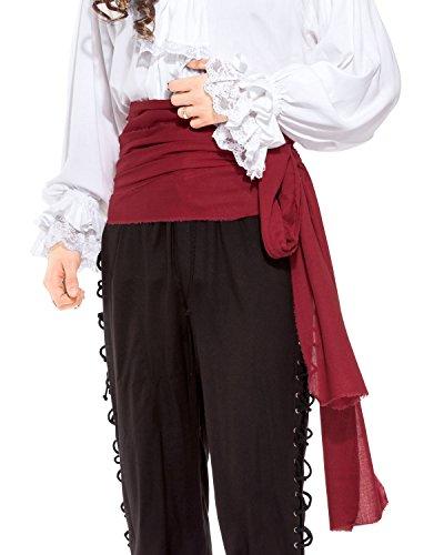 Pirate Medieval Renaissance Linen Large Sash [Chocolate] -