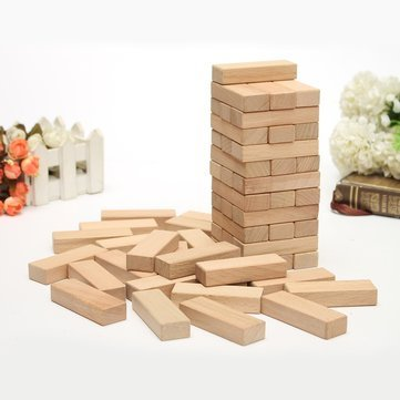 Tower - Developmental Toys - Wooden Stacking Tumbling Tower Fun Blocks Board Game Kids Family Toy Home Playfulness Hoehold Family Plaything - 1PCs by Unknown