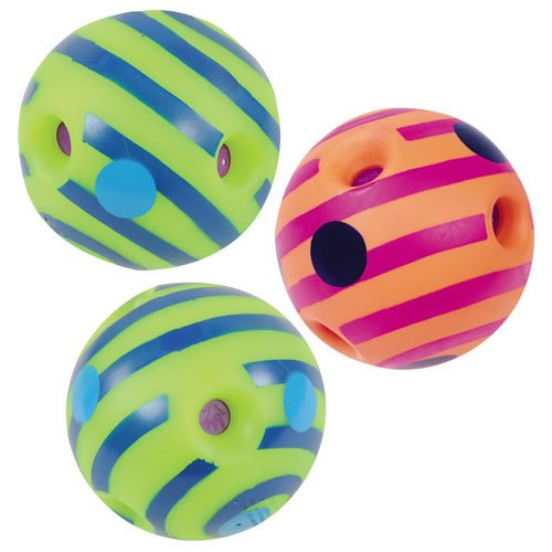 Toysmith Mini Wiggly Giggly Balls - Set of 3 by Toysmith (Image #1)