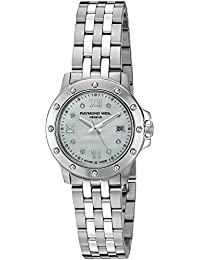 Womens 5399-ST-00995 Tango Steel Mother-Of-Pearl Diamond Crystal Dial