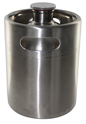 Brewhouse Keg Style Stainless Steel Beer 64 oz. Mini Keg Growler