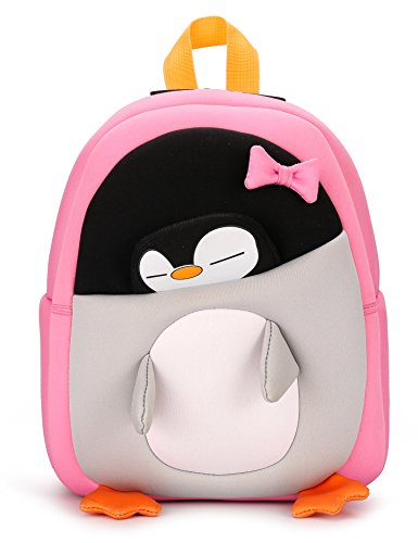 Cute Kids Backpack with Safety Harness Leash, 3D Penguin Cartoon Neoprene...