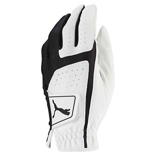 Puma Golf 2018 Mens Flexlite Golf Glove (Bright White-Puma Black, Large, Left Hand)