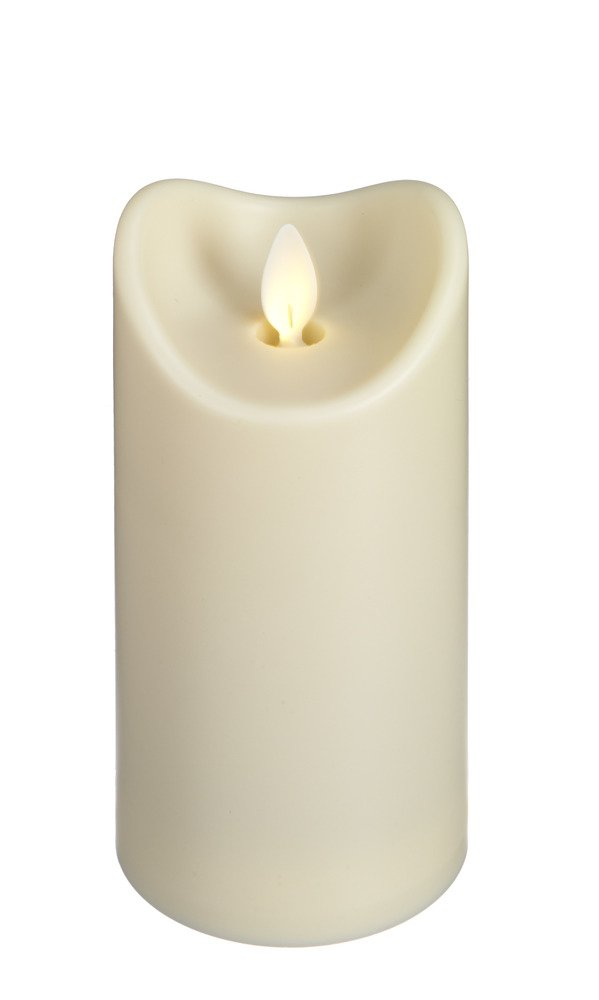 Ivory LED 6 Inch Water Resistant Resin Pillar Candle