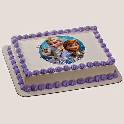 "2"" Cupcake (12 Per Sheet) - Disney Frozen Olaf Elsa and Anna - Edible Cake or Cupcake Topper - D4976"