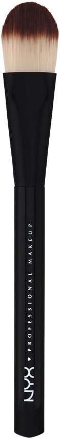 NYX PROFESSIONAL MAKEUP brocha para maquillaje fluido Pro Flat Brush 7 de fibra
