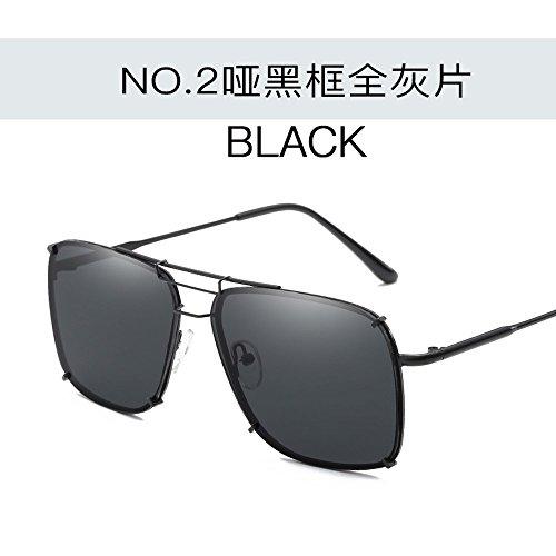 Oscuro Personalidad Mudos Sol Ángulo Verde Caja Pesca De Moda Espejo negro Gafas Film Conductor Tendencias Gafas En marco Conductor De De Sol JUNHONGZHANG De Gafas del 1dfgfqw