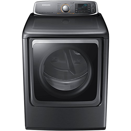 Samsung DV56H9000EP 9.5 Cu. Ft. Electric Steam Dryer with Drying Rack, Platinum by Samsung