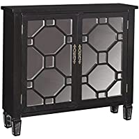 Powell Furniture 16A2040BL Hex Black 2 Door Console