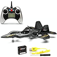 F22 Remote Control Fighter Jet Plane, 4 Channel Quad Copter with 3-Axis Gyro Technology, Black