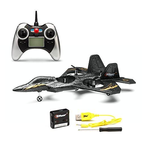Top Race F22 Fighter Jet 4 Kanal Ferngesteuerter Quadro Copter RTF Mini Drohne Multi Copter (verschiedene Farben)