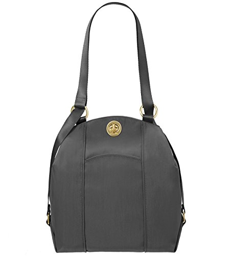 Baggallini Gold International Mendoza CHRL Back pack, Charcoal, One (Baggallini Lightweight Backpack)