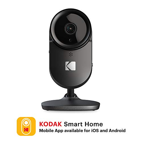 KODAK Cherish F670 Home Security Camera with Mobile App – Full-HD Wireless Security Camera System with Infrared Night-Vision, Zoom & 120deg View – Surveillance Camera, WiFi IP Camera, Indoor Security
