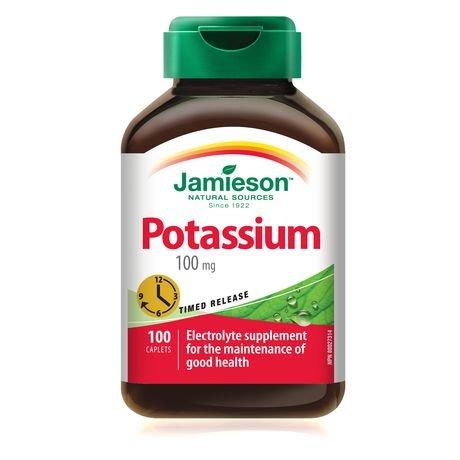 Jamieson Potassium 100 mg, 100 caplets