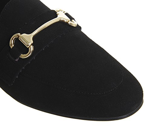 Office Destiny Trim Loafers Black Suede XEqiKtF