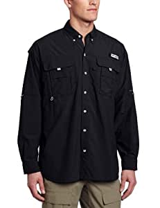 Columbia Men's Bahama II Long Sleeve Shirt, Black, X-Small