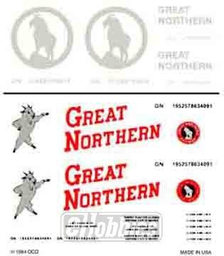 Great Northern Box Cars Dry Transfer Decals Woodland Scenics by Woodland Scenics