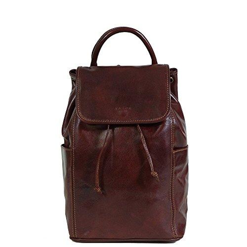 I Medici Italian Leather Backpacks (IM 6000) in Chocolate