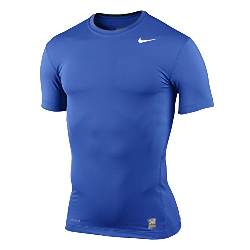 Nike 269603 Pro Combat Compression Short Sleeve Crew (Royal/Grey, 2XL) by Nike