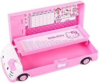 Hello kitty Pencil Case+White board+Pen with eraser for Girl Kid Car Pencil Box