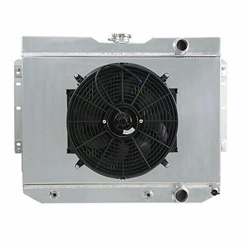 ALLOYWORKS Aluminum Radiator + Fan Shroud Kit for 1959-63 Chevy Impala , EI Camino / 1960-65 Chevy Biscayne, Bel Air (Air Condition Stop Leak compare prices)