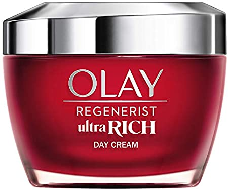 Olay Regenerist Ultra Rich Crema De Día, Textura Rica No Grasa, Con Vitamina B3, Péptidos Y Manteca De Karité , 50ml