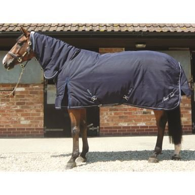 Mark Todd Deluxe Heavyweight Stable Combo Rug 7' 3  Navy & White