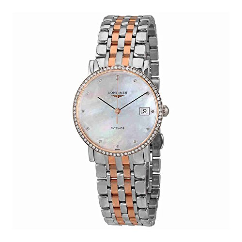 Longines-Elegant-Collection-L48095887-18K-Rose-Gold-MOP-Diamond-Dial-Diamond-Bezel-Automatic-Womens