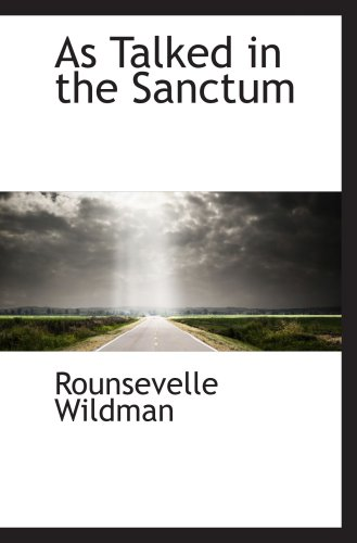 Download As Talked in the Sanctum ebook