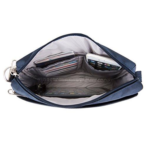 theft Travelon Crossbody Midnight Black Classic Bag E w Anti Small P5CSqw5