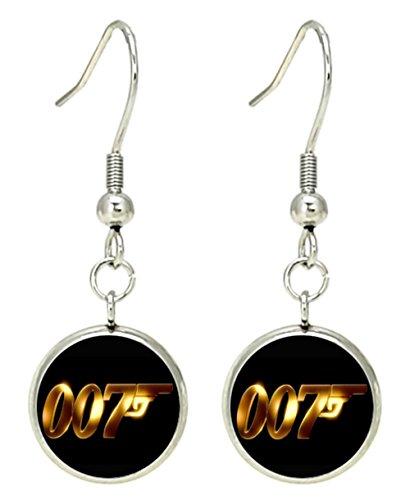 James Bond 007 Spectre Dangle Earrings Movies Logo Theme Premium Quality Detailed Cosplay Jewelry Gift (James Bond Girls Costume)