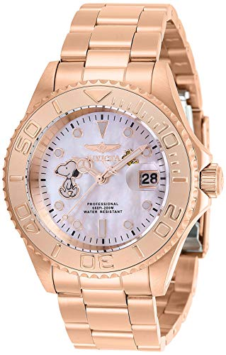 Invicta Men's Character Collection Quartz Watch with Stainless Steel Strap, Rose Gold, 19.5 (Model: 28519)