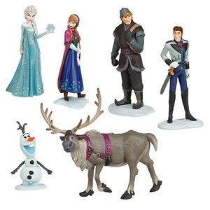 "Amazon.com: 5"" LOT6 FROZEN Figurine Doll Toy Anna Elsa Hans Kristoff"