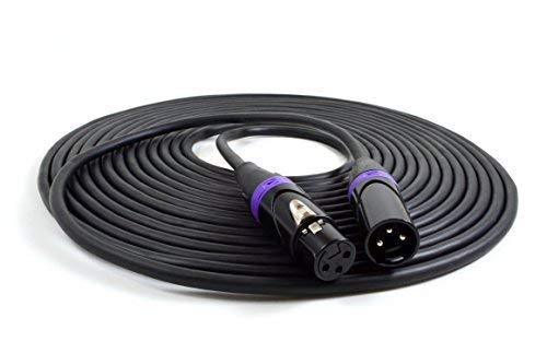 (Vitrius Cables - XLR Cable 25 Ft - for Microphones & Pro Audio - 3-pin Connectors, Male to Female)