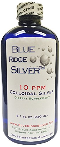 SALE 40% OFF - Blue Ridge Silver 10 ppm 8 oz Colloidal Silver