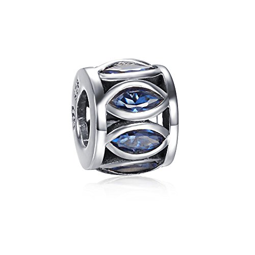 Soufeel 925 Sterling Silver Blue Drum Type Charm