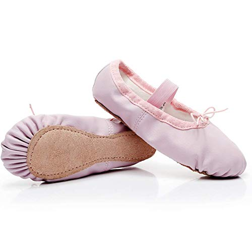 DubeeBaby Leather Ballet Shoes for Girls,Ballet Slippers Flats